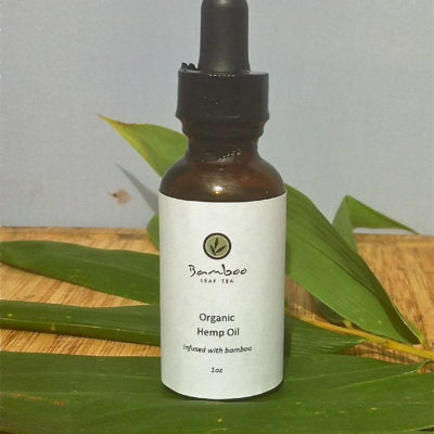 Organic Hemp Oil - infused with bamboo