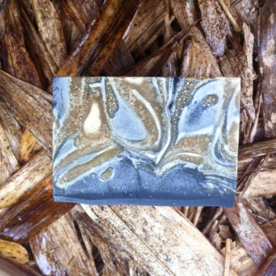 Bamboo Charcoal Soap - turmeric, tea tree oil, hemp oil
